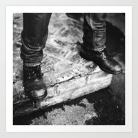Boots and Concrete Art Print