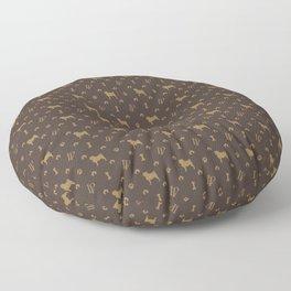 Louis Pug Face Luxury Dog Pattern Floor Pillow