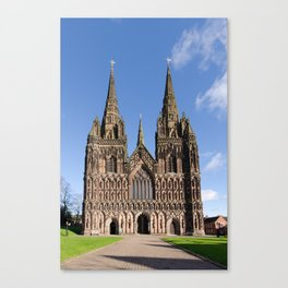 Lichfield cathedral Canvas Print