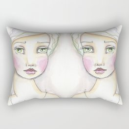 Dreamy Eyed Girl in Sherbert Rectangular Pillow