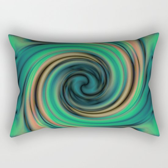 Green Maelstrom Rectangular Pillow