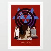 chvrches Art Prints featuring CHVRCHES - The Bones Of What You Believe by Andrea Solenghi