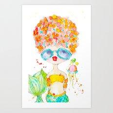 pink lemonade -- sweet, but tart. Art Print