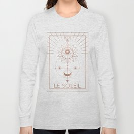 Le Soleil or The Sun Tarot White Edition Long Sleeve T-shirt