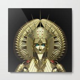 Egyptian Mask Metal Print
