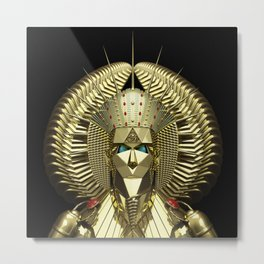 Egyptian Mask Metal Print