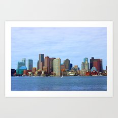 City of Boston Close up Art Print