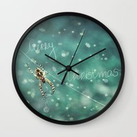 knitting Wall Clocks featuring Christmas knitting by SensualPatterns