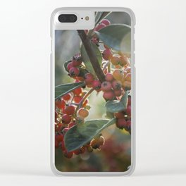 Soft Light on Winterberry Shrub Clear iPhone Case
