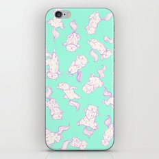 Lazy Cat Pattern Solid iPhone Skin