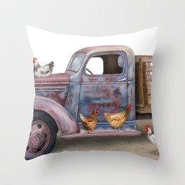 The Flock Spot Throw Pillow
