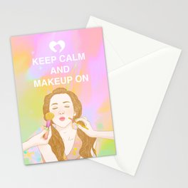 Keep Calm and MakeUp On Stationery Cards