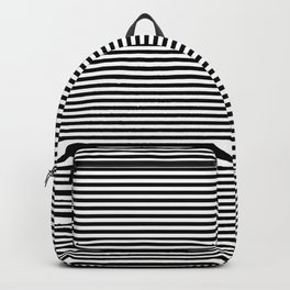 Horizontal Stripes in Black and White Backpack