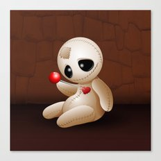 Voodoo Doll Cartoon in Love Canvas Print