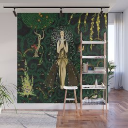 1921 Classical Masterpiece 'Flowers and Flames' by Kay Nielsen Wall Mural