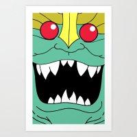 thundercats Art Prints featuring Mumm-Ra - Thundercats by Dukesman