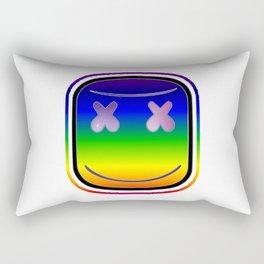 marshmello face rainbows Rectangular Pillow