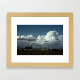 obstructed view Framed Art Print