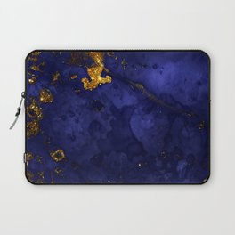 Gold Blue Indigo Malachite Marble Laptop Sleeve