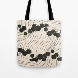 Art Nouveau Black Dots Tote Bag