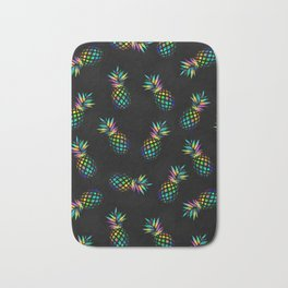 Iridescent pineapples Bath Mat
