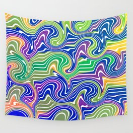 Swirls in blue and green Wall Tapestry
