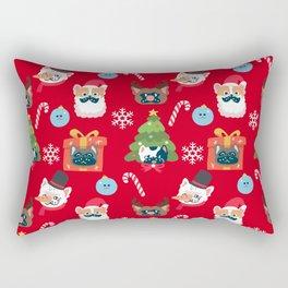 Xmas and French Bulldogs Rectangular Pillow