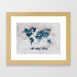 world map 13 #worldmap #map #world Framed Art Print