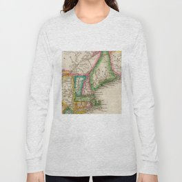 Vintage Map of New England (1822) Long Sleeve T-shirt