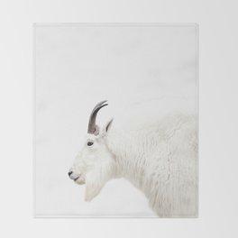 NORDIC MOUNTAIN GOAT Throw Blanket