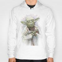yoda Hoodies featuring Yoda  by Olechka