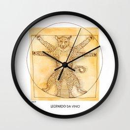 Leopardo da Vinci Wall Clock