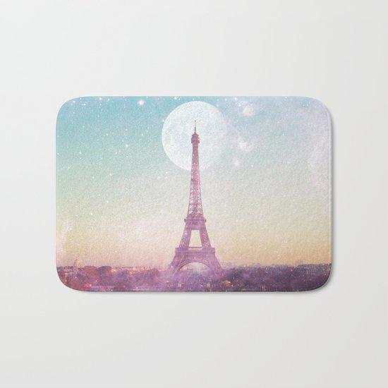 I LOVE PINK PARIS EIFFEL TOWER - Full Moon Universe Bath Mat