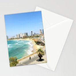 Tel Aviv from Jaffa Port, Israel Stationery Cards