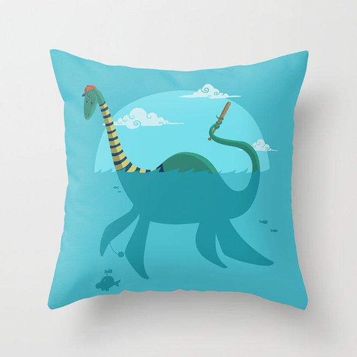 """Loch""""Ness"""" Monster Throw Pillow"""