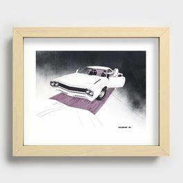 1966 Muscle Car Front End Sketch Recessed Framed Print