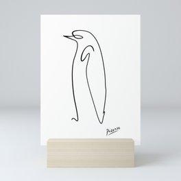 penguin line art picasso original Mini Art Print