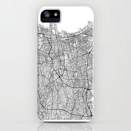 Jakarta Map White iPhone Case