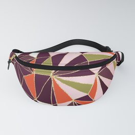 New Art Deco Geometric Pattern - Burgundi and Pink #deco #buyart Fanny Pack