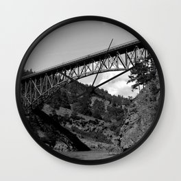 Deception Pass, the Bridge to Whidbey Island Wall Clock