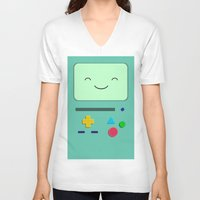 bmo V-neck T-shirts featuring BMO 2 by skyetaylorrr