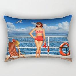 Beauty from the 50s in bikini Rectangular Pillow