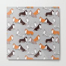 Origami Collie doggie friends Metal Print