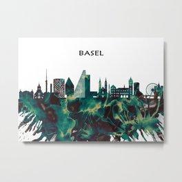 Basel Skyline Metal Print