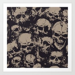 Skulls Seamless Kunstdrucke