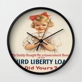 Vintage poster - Third Liberty Loan Wall Clock