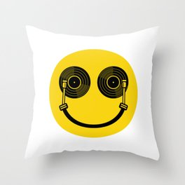 Smile DJ Throw Pillow