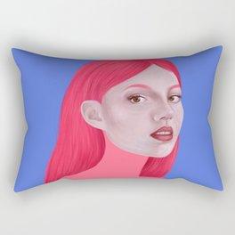 Woman in pink Rectangular Pillow