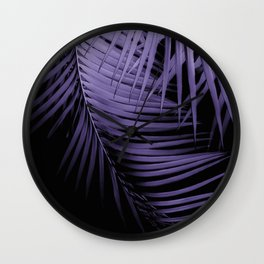 Palm Leaves Ultra Violet Vibes #1 #tropical #decor #art #society6 Wall Clock