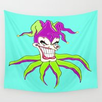 clown Wall Tapestries featuring Jester Clown by J&C Creations